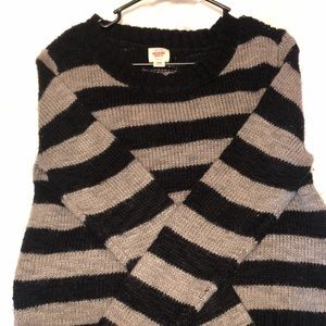 Black and grey striped sweater!